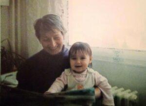S vnučkou Alenkou